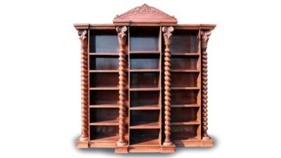 Wood Carved Book CaseWood Carved Furniture | Spiralwood